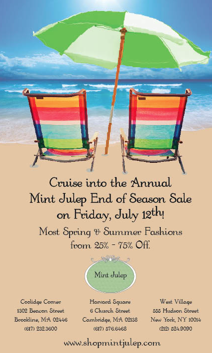 Mint Julep Sale