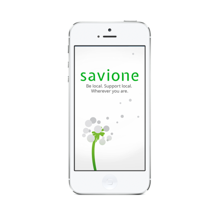 Iphone with splash screen_white